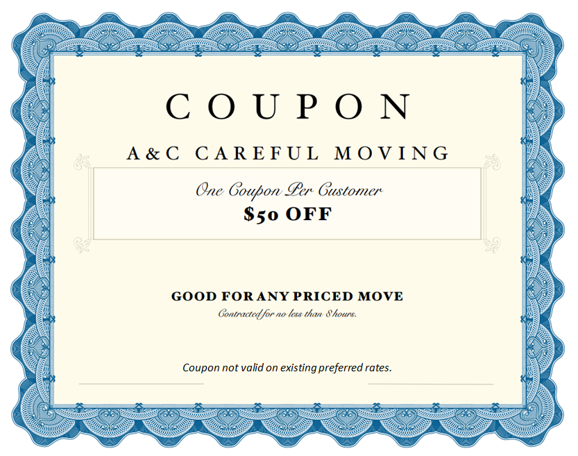 Grand Rapids Moving Company Coupons Discount Special Offers